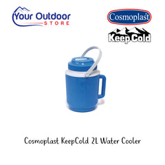 Light Blue | Cosmoplast Keep Cold 2L Water Cooler Jug. Branded Hero Image