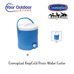 Light Blue | Cosmoplast KeepCold 4L Picnic Water Cooler, Branded Hero Image