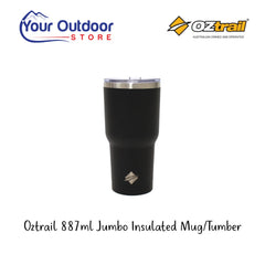 Oztrail 887ml Jumbo Insulated Tumbler Mug