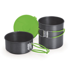 Companion Pro Nano 2 Piece Solo Cookset Separated pots with lid behind