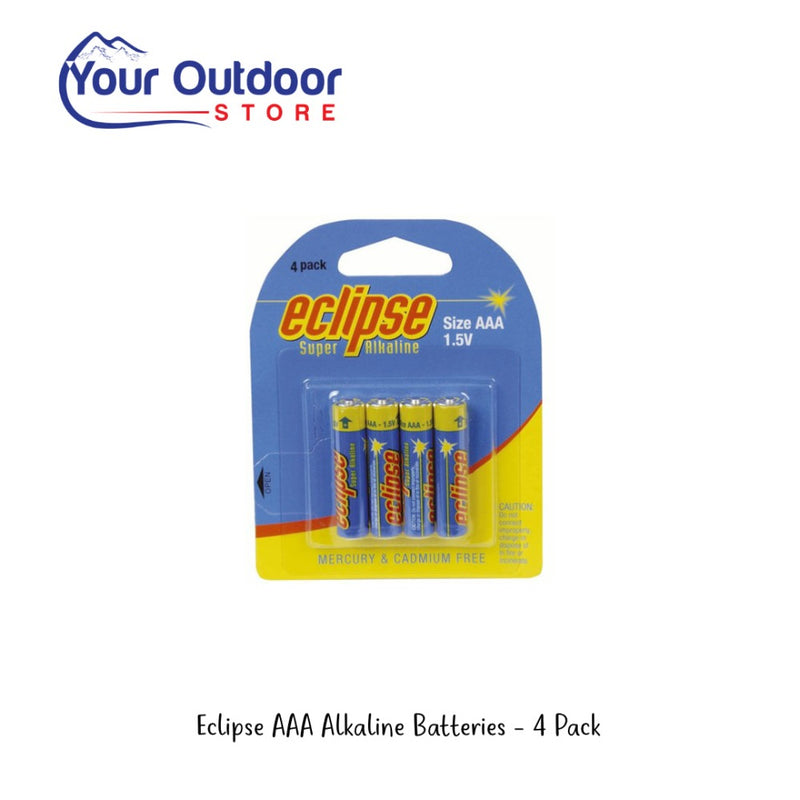 Eclipse AAA Alkaline Batteries - 4 Pack