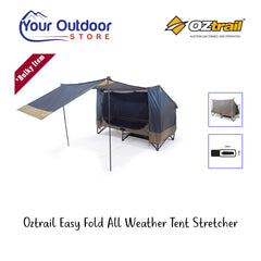 Oztrail Easy Fold All Weather Stretcher Bed. Main Image