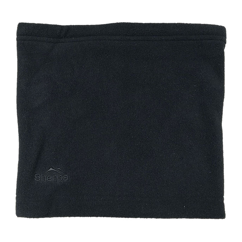 Black | Sherpa Kids Fleece Neck Warmer