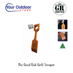 The Good Rub Grill Scraper. Scraping Bbq and Direct front view