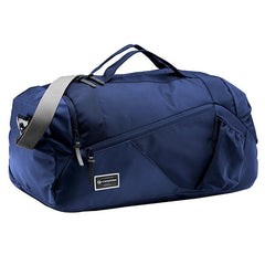 Navy | Front view, Handles up over shoulder strap visible