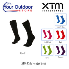 Black | XTM Kids Heater Sock. Hero