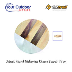 Oztrail 33cm Melamine Cheese Board. Branded hero image