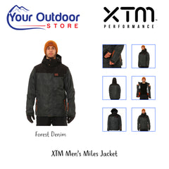 Forest Denim | XTM Mens Miles Jacket. Display Image