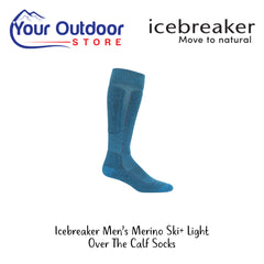 Polar | Icebreaker Mens Merino Ski Plus Light Over The Calf Socks