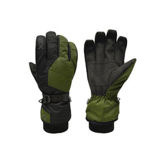Forest | XTM Les Triomphe Mens Water Proof Glove. Forest colour, pair showing palm and back. Your Outdoor Store