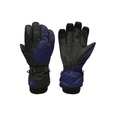 Navy | XTM Les Triomphe Mens Water Proof Glove. Navy colour, pair showing palm and back. Your Outdoor Store