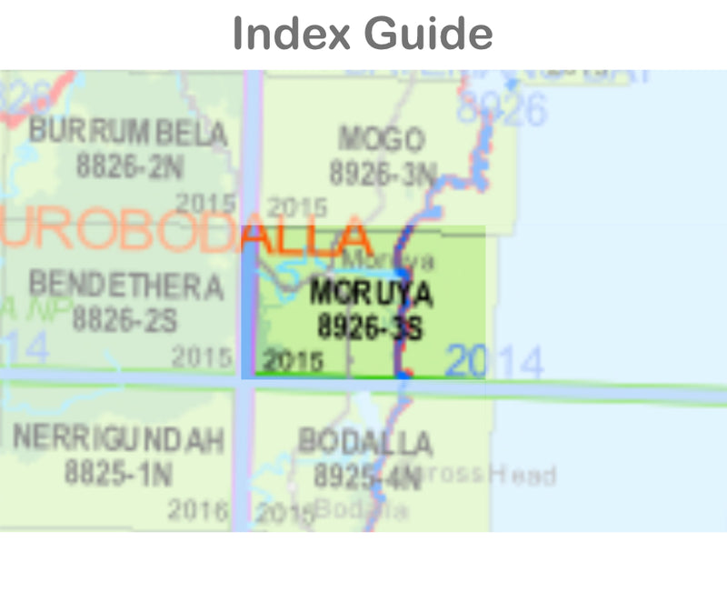 Moruya 8926-3-S NSW Topographic Map 1:25k