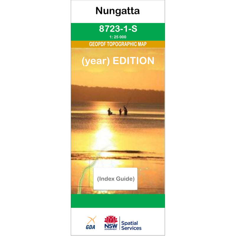 Nungatta 8723-1S NSW Topographic Map 1:25k
