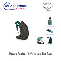Cedar Green | Osprey Raptor 14 Mountain Bike Backpack With Reservoir- Hero