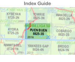 Puen Buen 8825-3-S NSW Topographic Map 1 25k