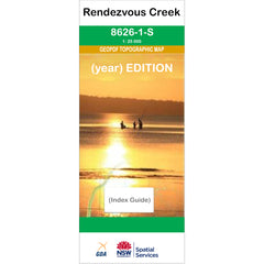 Rendezvous Creek 8626-1-S NSW Topographic Map 1:25k