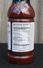 Lamberts Sweet Sauce O'Mine. BBQ marinade sauce. Nutritional information panel. Your Outdoor Store