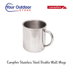 Campfire Stainless Steel Double Wall Mugs