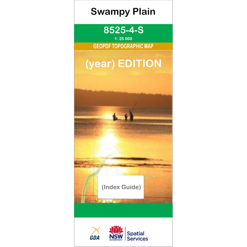 Swampy Plain 8525-4-S NSW Topographic Map 1 25k