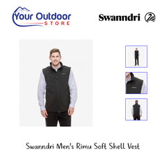 Black | Swanndri Men's Rimu Soft Shell Vest. Hero Image
