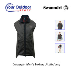 Brown | Swanndri Men's Foxton Oilskin Vest. Hero Image