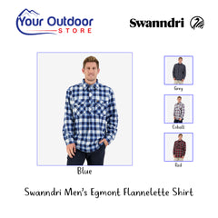 Blue | Swanndri Men's Egmont Flannelette Shirt Hero
