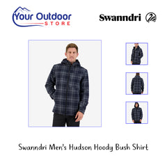 Charcoal Grid | Swanndri Mens Hudson Hoody Bush Shirt. Hero
