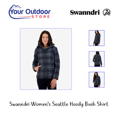 Charcoal Grid | Swanndri Womens Seattle Hooded bush shirt hero image