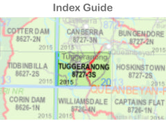 Tuggeranong 8727-3-S NSW Topographic Map 1:25k