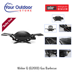 Weber Q 2000 Gas Barbecue Black