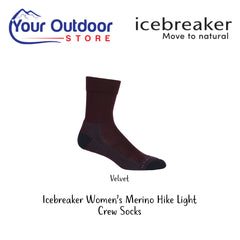 Velvet | Icebreaker Womens Merino Hike Light Crew Socks