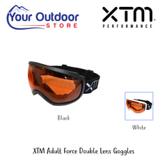 XTM Adult Force Double Lens Goggle. Black Hero Image