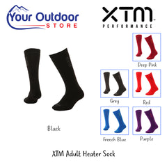 Black | XTM Adults Heater Sock. Hero