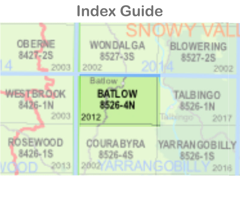 Batlow 8526-4-N NSW Topographic Map 1 25k