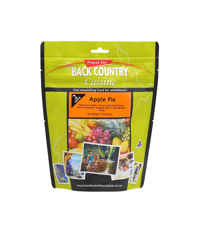 Back Country Cuisine Apple Pie pouch. Freeze Dried Food Portion