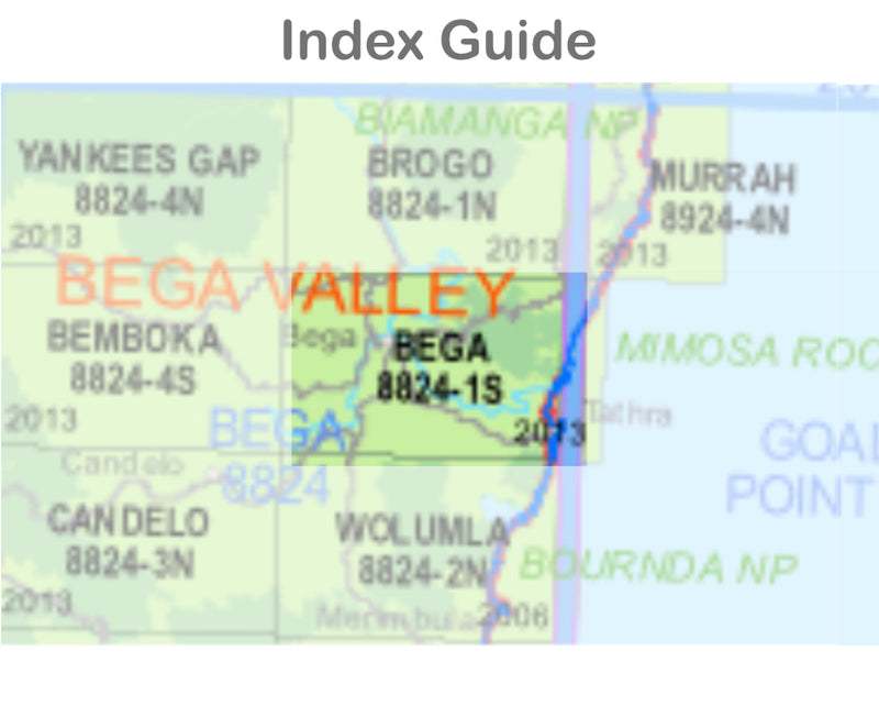 Bega 8824-1-S NSW Topographic Map 1 25k