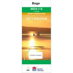 Bega 8824-1-S NSW Topographic Map 1:25k