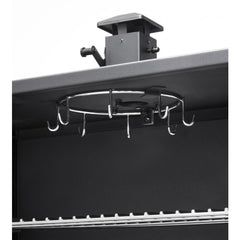 Black | Hark Big Boss Gas Smoker. Hanging hooks