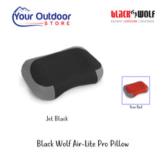 Jet Black | Black Wolf Air-Lite Pro Pillow- Hero