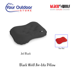Jet Black | Black Wolf Air-Lite Pillow- Hero Image