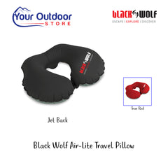 Jet Black | Black Wolf Air-Lite Travel Pillow
