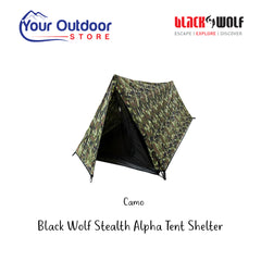 Camo | Black Wolf Stealth Alpha 1 person Tent Shelter