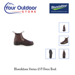 Brown Thoroughbred | Blundstone Unisex 659 Dress Boot Various angles and images.