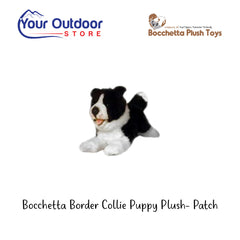 Bocchetta Border Collie Puppy Plush Toy- Patch