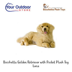 Bocchetta Golden Retriever With Satin Pocket Plush Toy- Luna