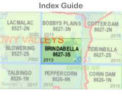 Brindabella 8627-3-S NSW Topographic Map 1 25k