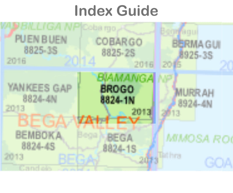 Brogo 8824-1-N NSW Topographic Map 1:25k