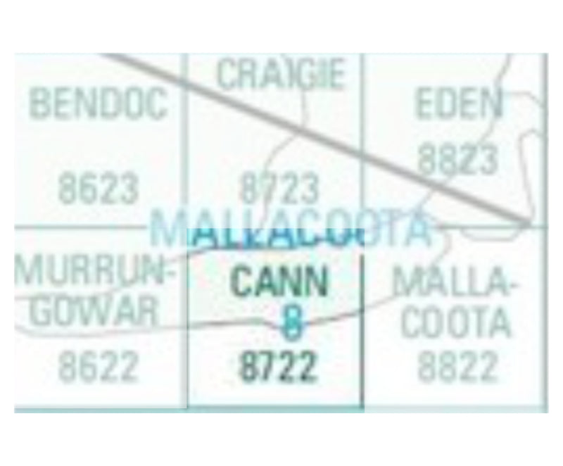 Cann (Vic) 8722 Topographic Map 1:100,000 Scale