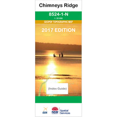 Chimneys Ridge 8524-1-N NSW Topographic Map 1:25k