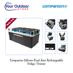 Companion Lithium 75L Dual Zone Rechargeable Fridge/Freezer. Hero Image